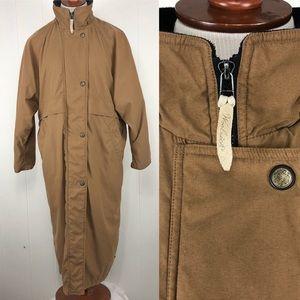 Woolrich Long Coat Large Double Zipper Buttons
